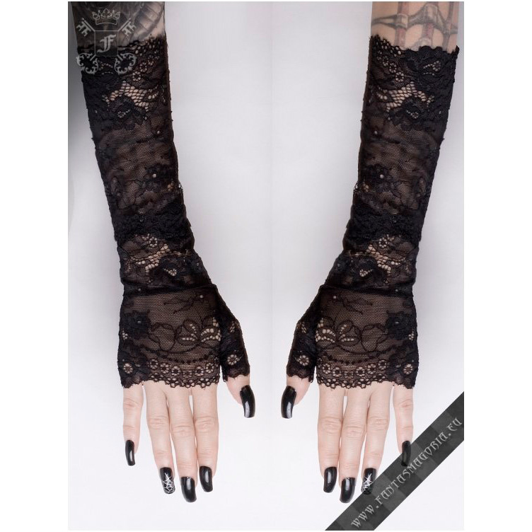Gloves : AAG024 Long gothic lace gloves